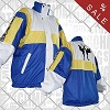 FIGHT-FIT - Trainingsjacke / Blau-Weiss-Gelb / XL