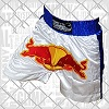 FIGHTERS - Muay Thai Shorts / Red Bull / Weiss-Blau/ XXS