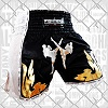 FIGHTERS - Thaibox Shorts / Elite Fighters / Black-White / XS / 10 - 16 Jahre