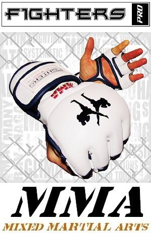 FIGHTERS - MMA Handschuhe / Elite / Weiss / Small